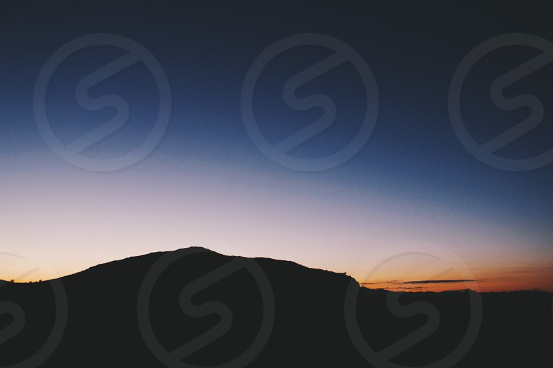 dusk over mountain photo