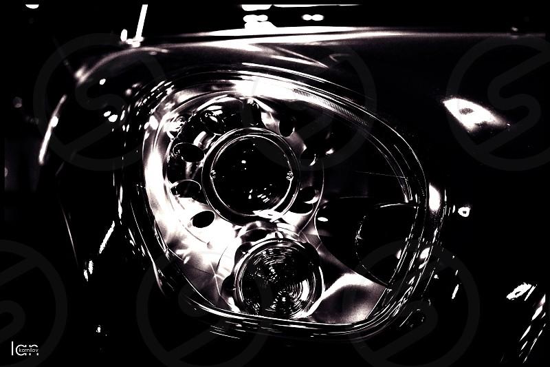 #car #bmw #light #mini #cooper #minicooper #black #white photo
