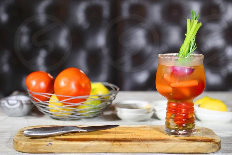Juice drinks healthy vegetables photo