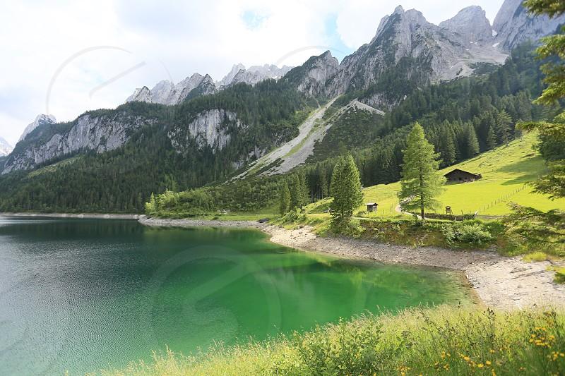 lake mountains alps Austria nature photo