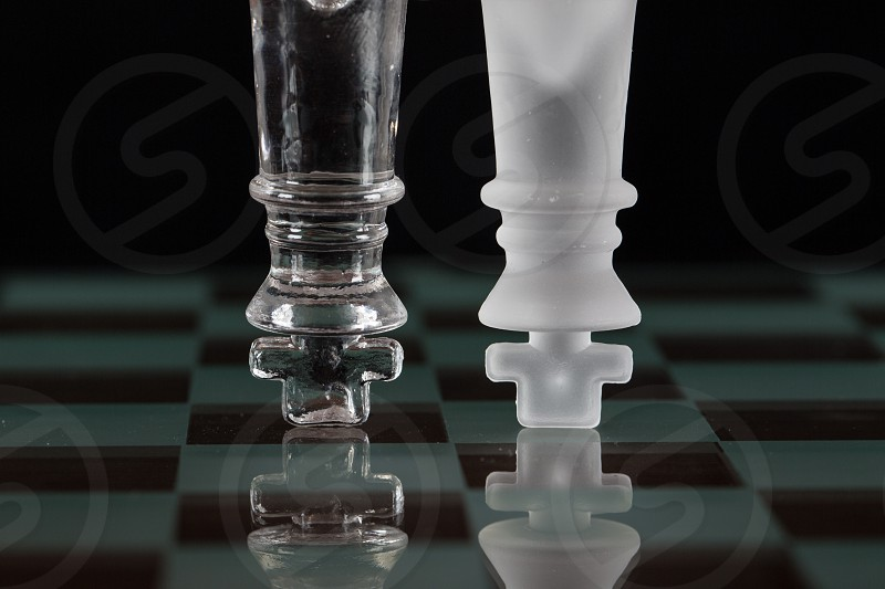 clear glass chess piece photo