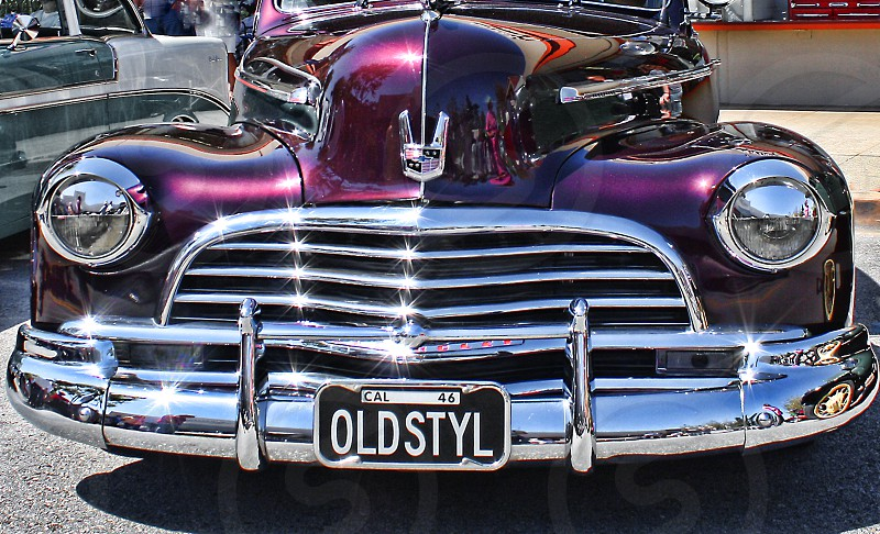 Classic Car with license plate on the front photo