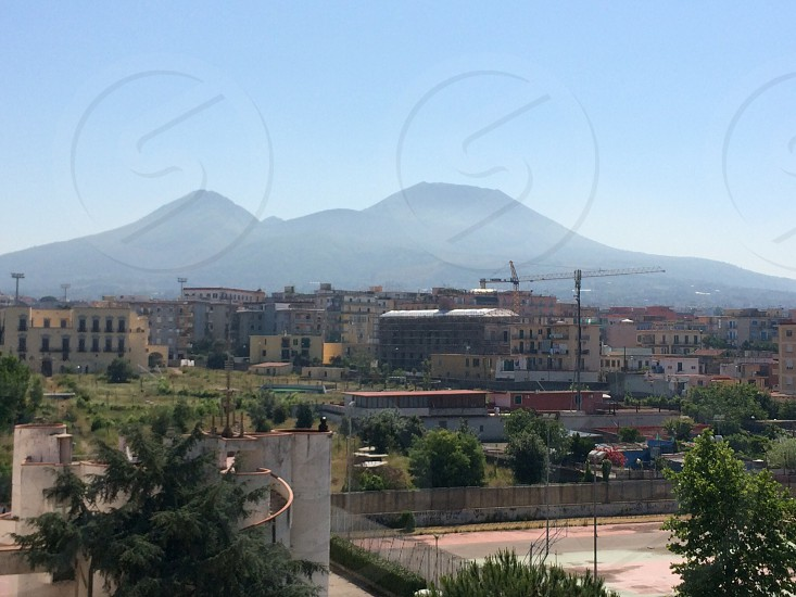 Vesuvius and Mount Somma - view from school photo