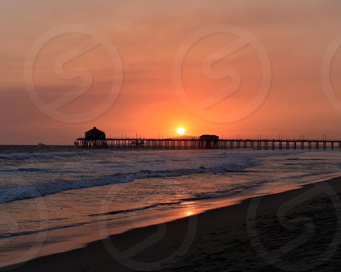 Sunset - Huntington Beach CA photo