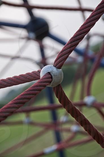 Rope climbing frame photo