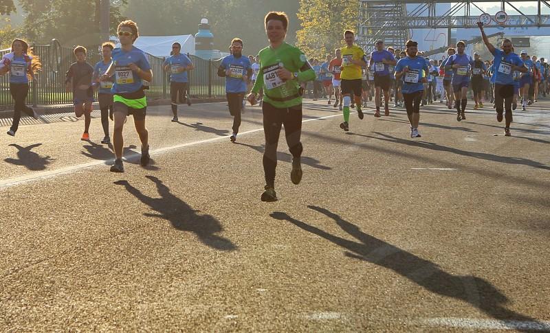 Shadow play running free run fly shadow photo