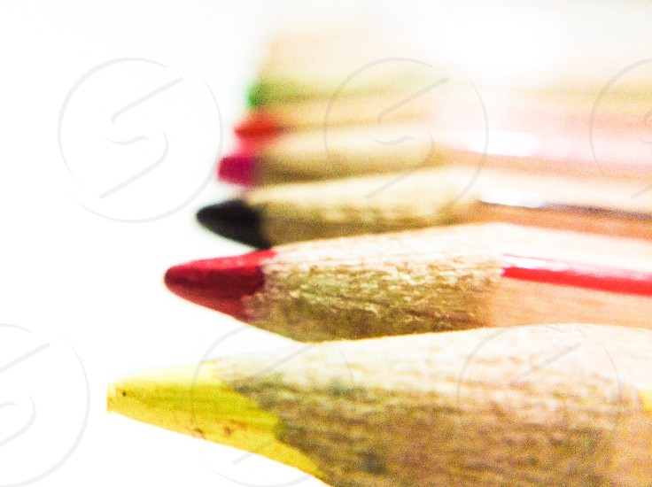 brown wooden colored pencil photo