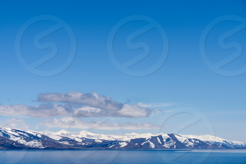 Icy lake Sevan in Armenian province of Gegharkunik.  photo