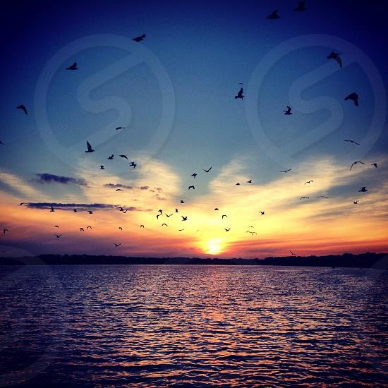 Sunset on West Lake. PortageMI photo