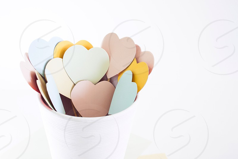 Multicolor hearts photo