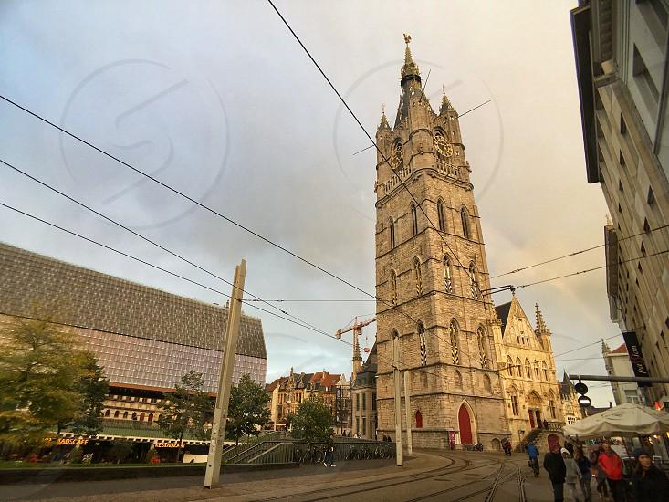 Beautiful Belfry of Ghent Belgium. photo