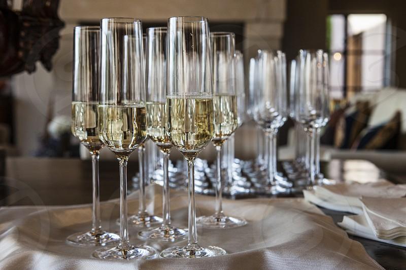 celebrate champagne prosecco celebration party toast salute glass liquid waiter photo
