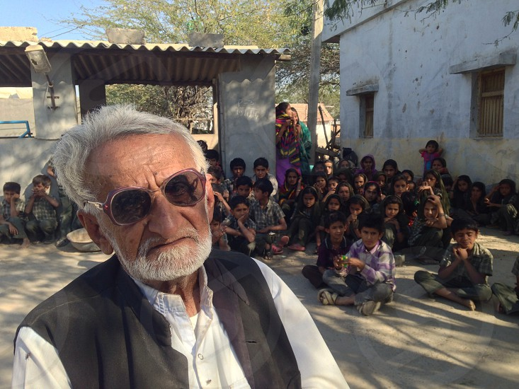 Village School Teacher Kutch Gujarat India  photo