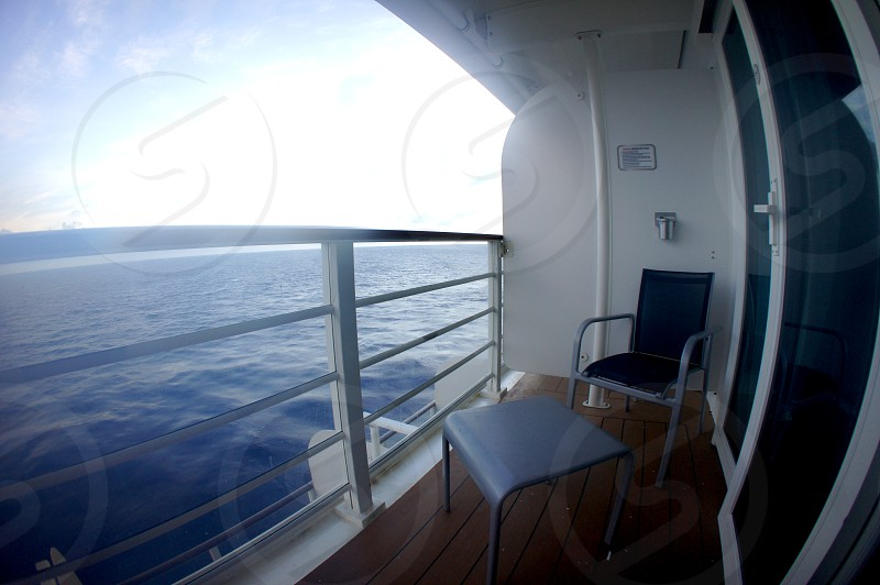Cruise ship balcony photo
