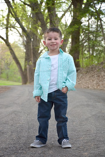 Handsome Young Man Children's Portrait  Moon Lake Fort Riley KS photo