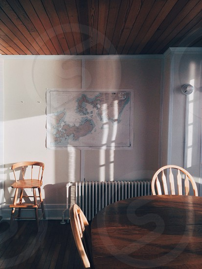 brown wooden dining table photo