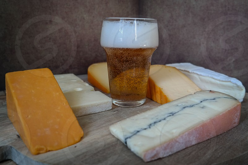 cheese and beer photo
