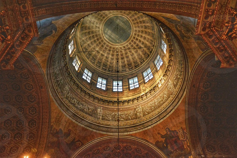 Central dome of Isaac Cathedral Petersburg photo