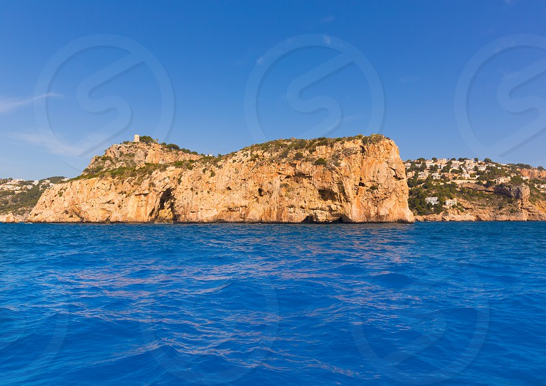 Javea Isla del Descubridor Xabia in Mediterranean Alicante at Spain photo