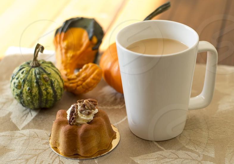 autumn breakfast coffee photo