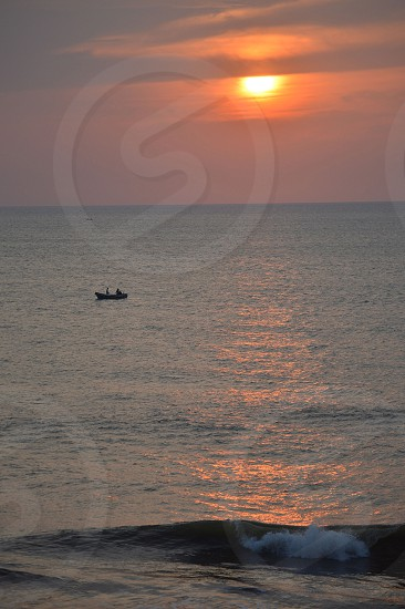 View out to the Laccadive Sea from Colombo Sri lanka photo
