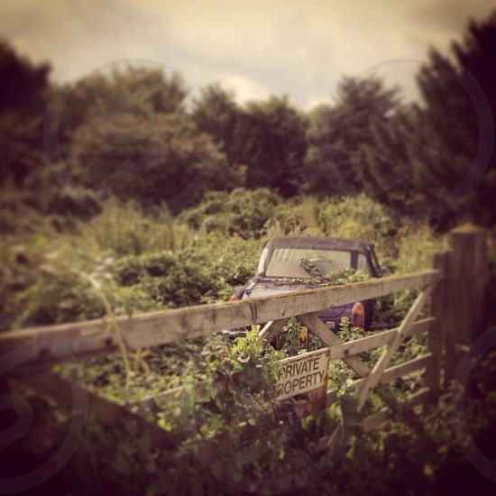 Abandoned car photo