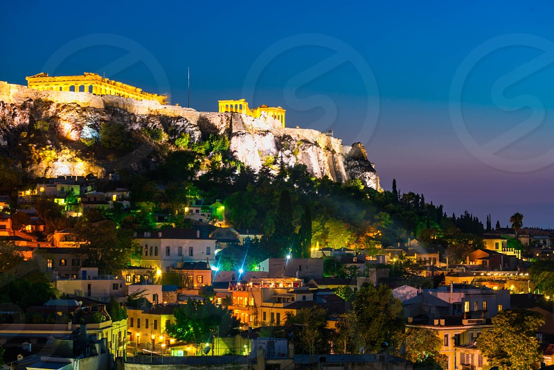 Athens at night. photo