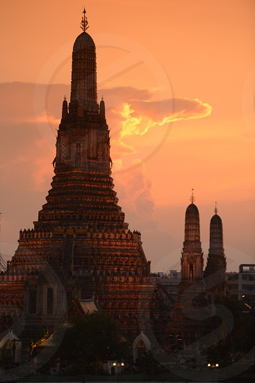 The golden Buddha at the temple of Wat Pho in the city of Bangkok in Thailand in Southeastasia. photo