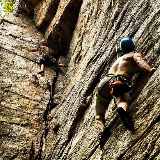 Rock climbing outdoor adventure new paltz fitness photo