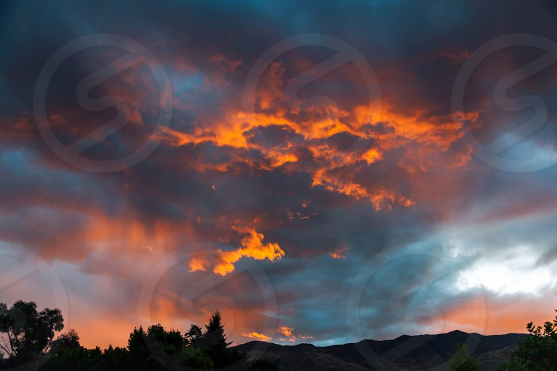 Sunset at Wanaka photo