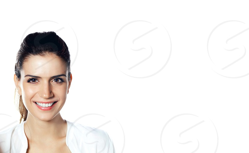 Smiling woman photo