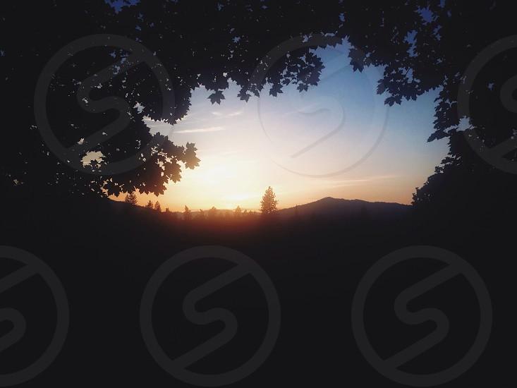mountain silhouette photo
