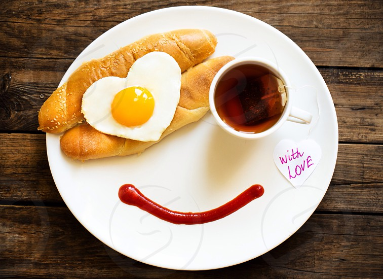 Heart love feelings sweet life amazing joy happy cute red family people breakfast smile coffee tea  photo