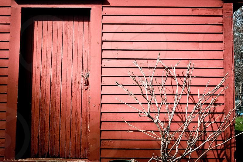 A red shed; Attleboro Massachusetts photo