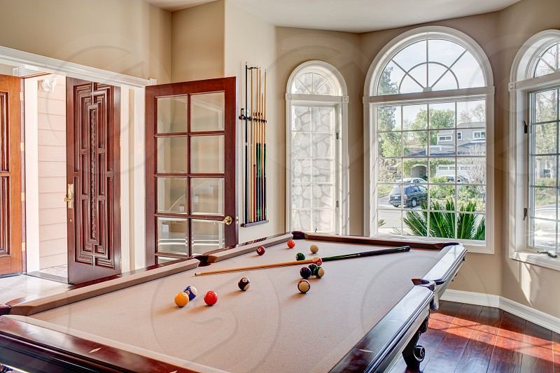Billiard Room in an Orange County estate photo