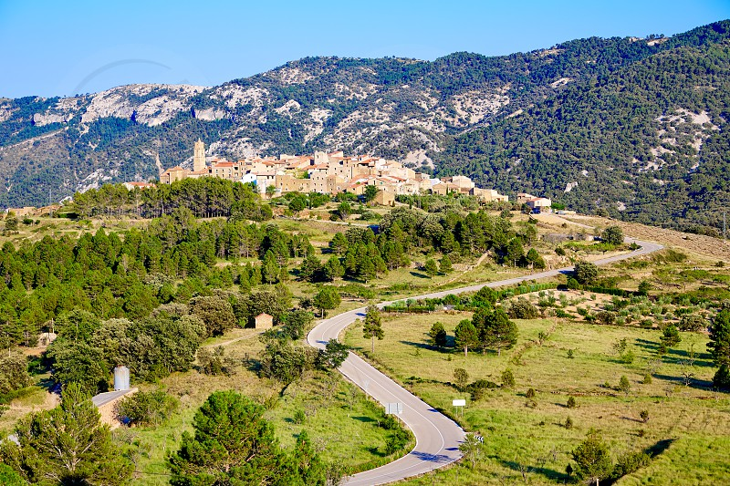 El Ballestar village in Tinenca de Benifassa area of Castellon Spain photo