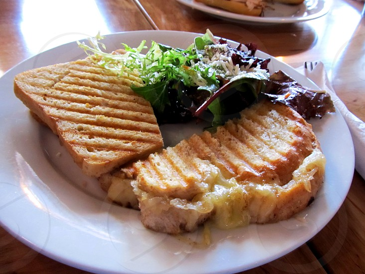 Bentonville AR pressed grilled cheese sandwich dining photo