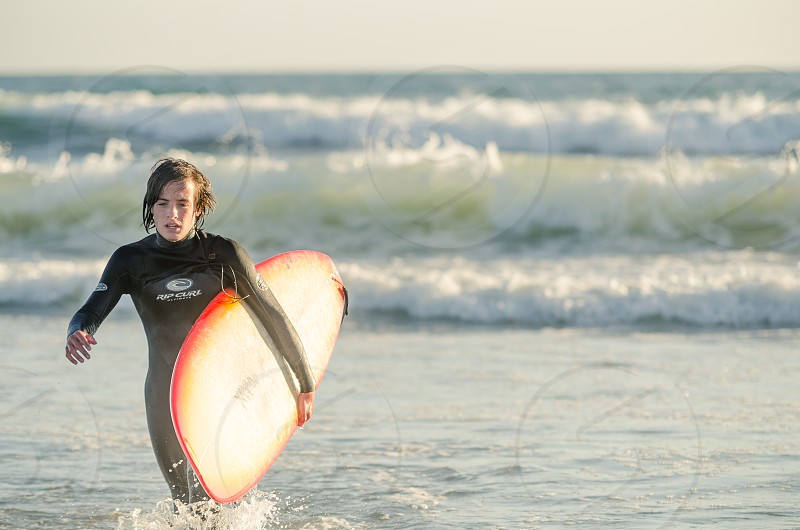 surf surfing surfer California west coast ocean surfboard photo