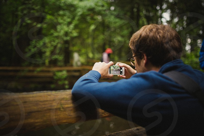 Taking a photo with an iPhone  photo