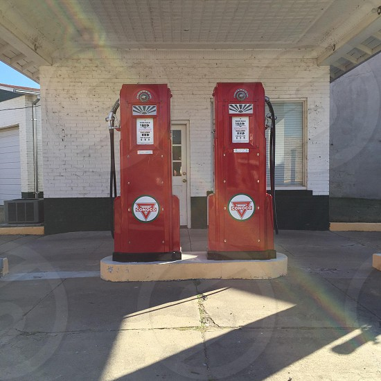 red gas pumps photo