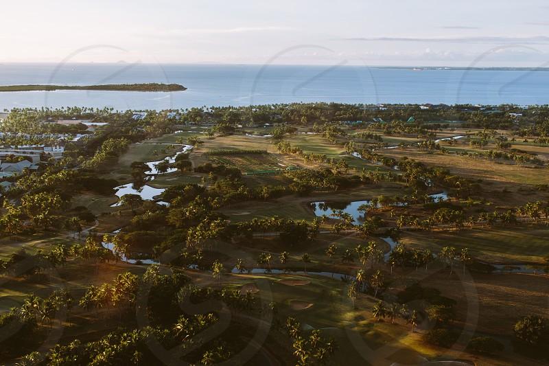 areal of Denarau golfcourse and denarau island Fiji photo