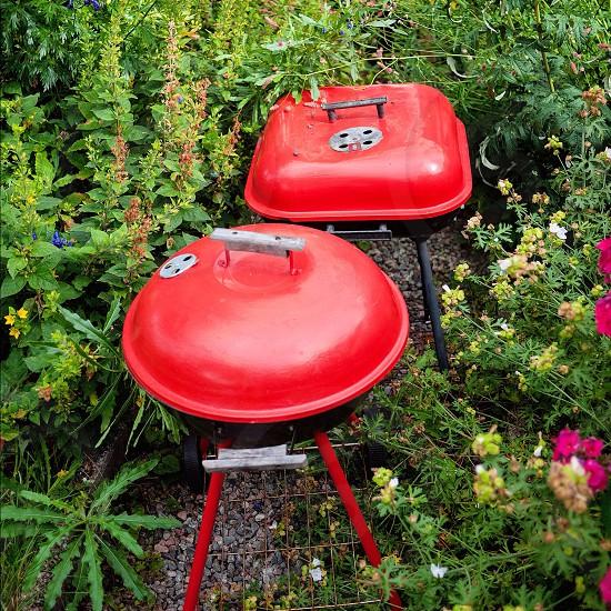 Grills leisure barbeque red garden photo