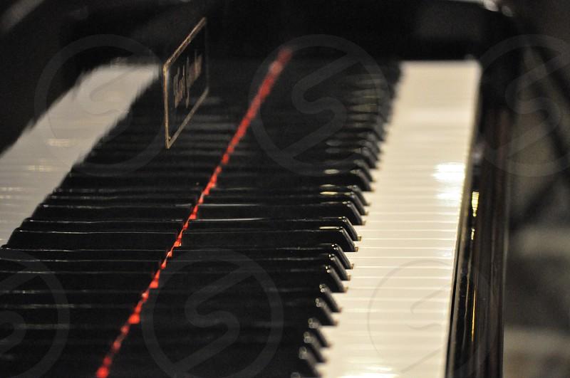 Piano keyboards isolated. Beautiful music background photo