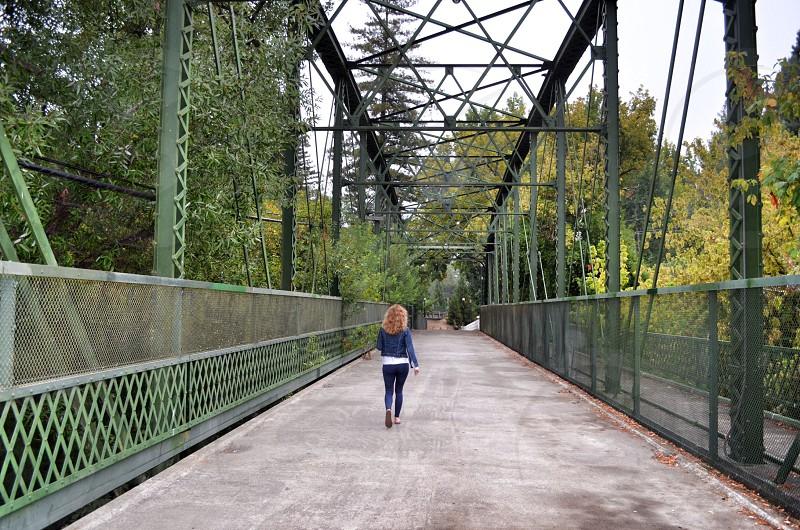 Historic Guerneville Bridge. Built in 1922.  photo