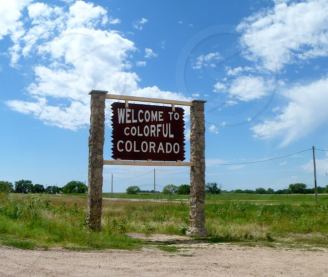 welcome to colorful colorado sign board photo
