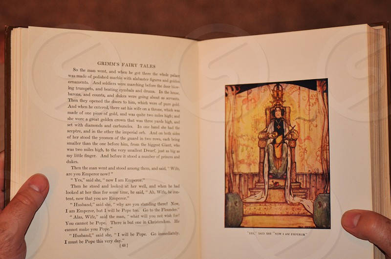 Antique Grimm's Fairy Tales - Edited by Frances Jenkins Olcott Illustrations by Rie Cramer photo