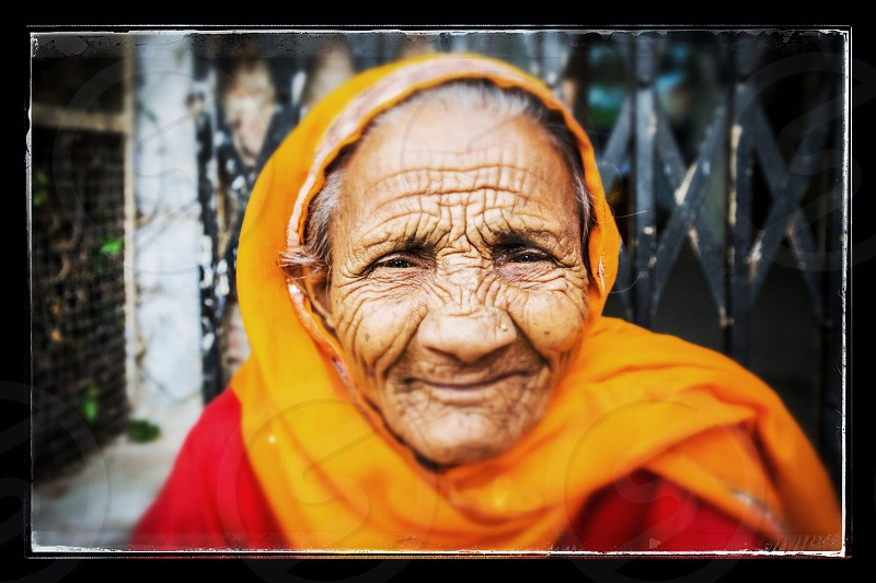 Indian woman in Jaipur India photo
