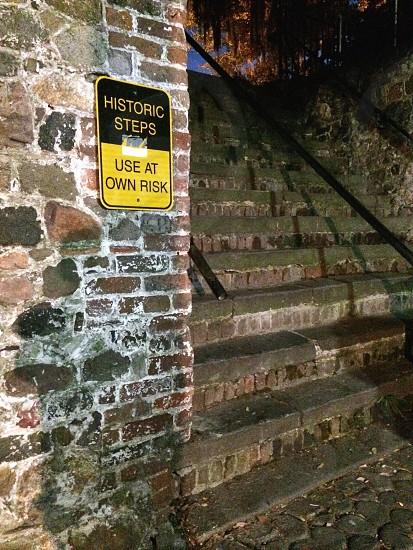 Historic steps in Savannah Georgia photo
