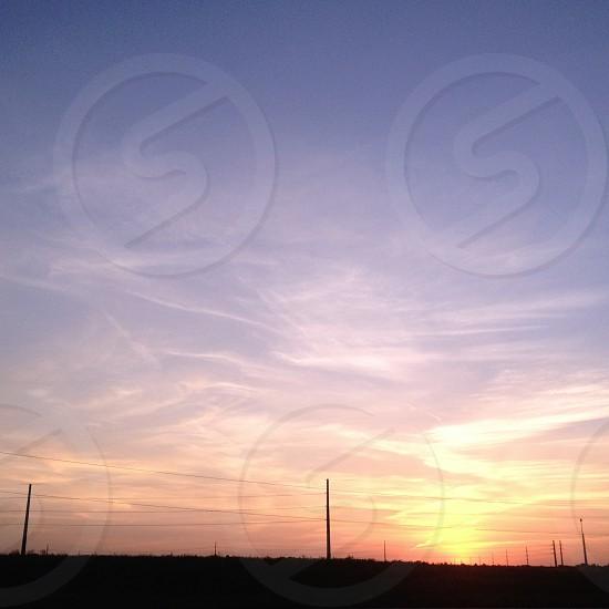 Sunset in Lincoln Nebraska.  photo