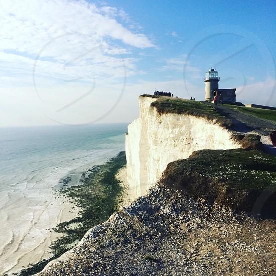 Seven sisters England cliffs sea  photo